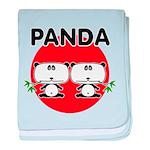 Panda 2 baby blanket