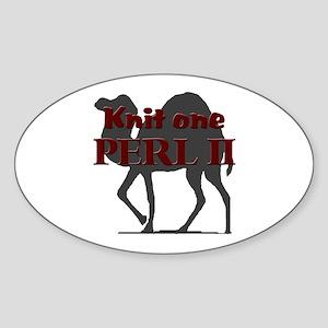 KNIT I, PERL II Oval Sticker