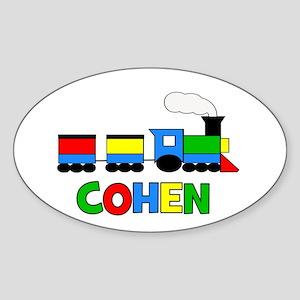 COHEN - Personalized TRAIN Sticker (Oval)