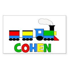COHEN - Personalized TRAIN Sticker (Rectangle)