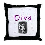Diva Throw Pillow