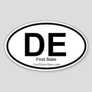Deleware Oval Sticker