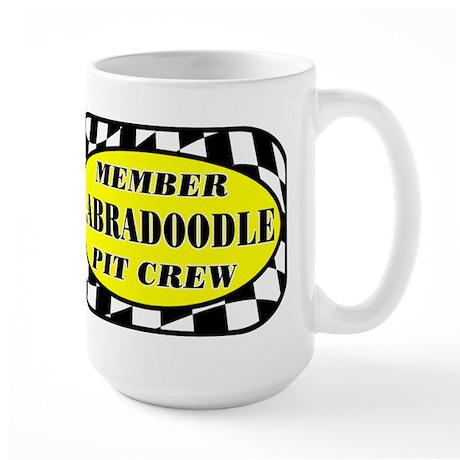 Labradoodle PIT CREW Large Mug