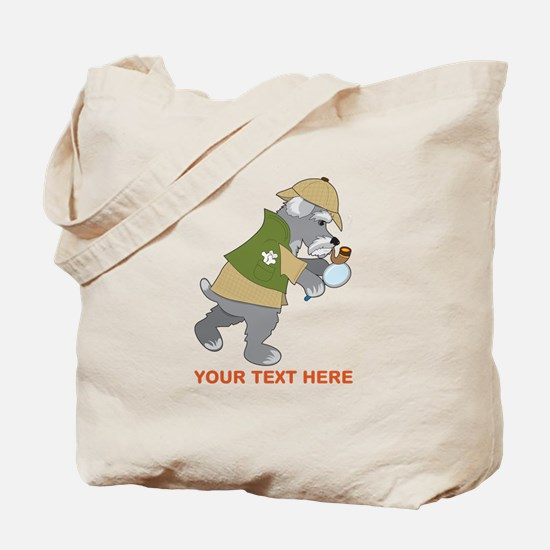 Schnauzer Detective Tote Bag