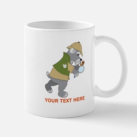 Schnauzer Detective Mug