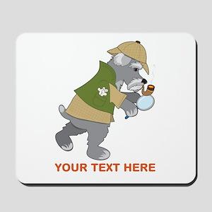 Schnauzer Detective Mousepad