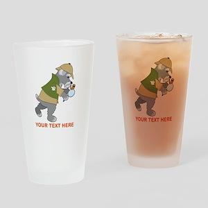 Schnauzer Detective Drinking Glass