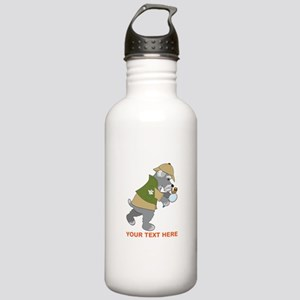 Schnauzer Detective Stainless Water Bottle 1.0L