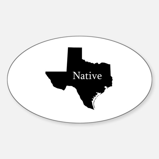 Texas Sticker (Oval)