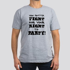 'Your Right to Party!' Men's Fitted T-Shirt (dark)