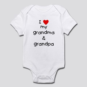 I love my grandma & grandpa Infant Bodysuit