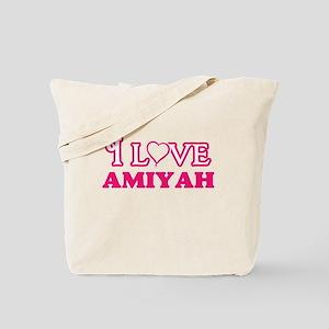 I Love Amiyah Tote Bag
