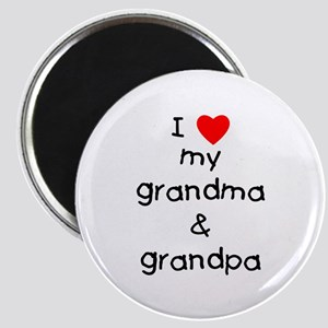 I love my grandma & grandpa Magnet