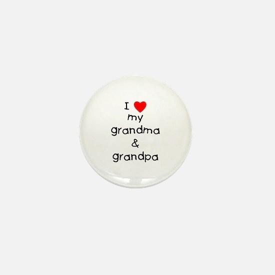 I love my grandma & grandpa Mini Button