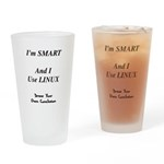 Smart Linux User Drinking Glass