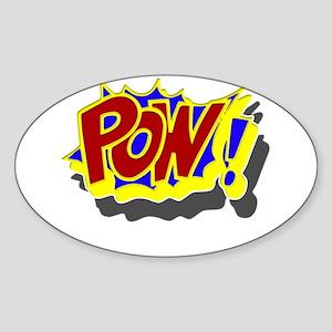 POW! Comic Book Style Sticker (Oval)