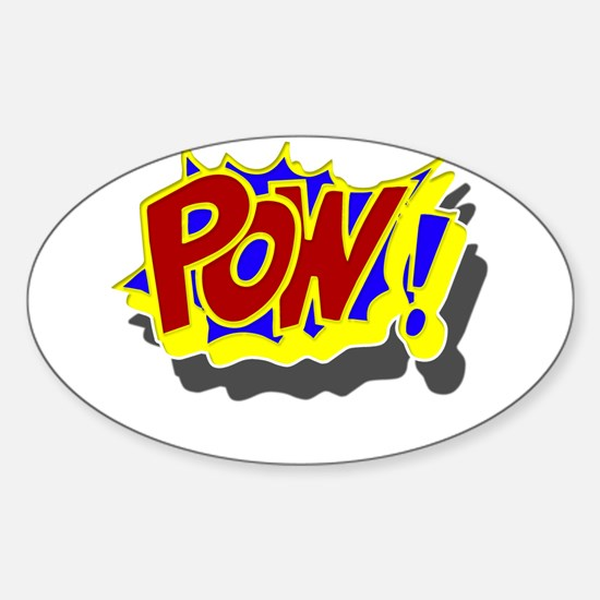 POW! Comic Book Style Sticker (Oval)