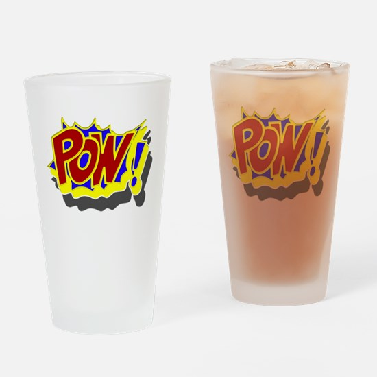 POW! Comic Book Style Drinking Glass