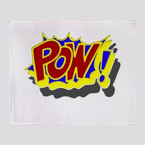 POW! Comic Book Style Throw Blanket