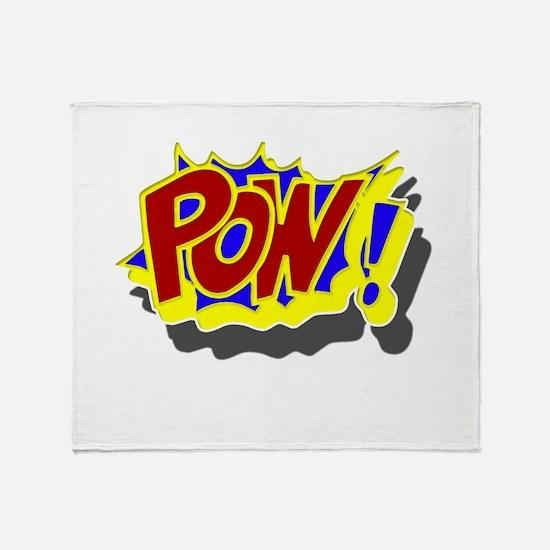 POW! Comic Book Style Throw Blanket