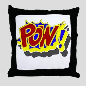 POW! Comic Book Style Throw Pillow
