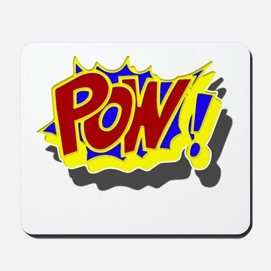 POW! Comic Book Style Mousepad