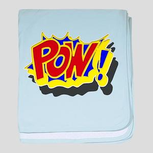 POW! Comic Book Style baby blanket