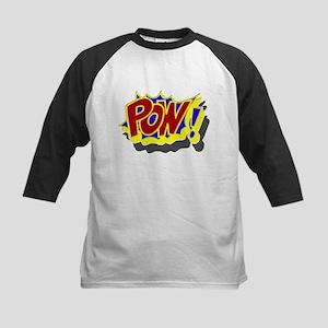 POW! Comic Book Style Kids Baseball Jersey