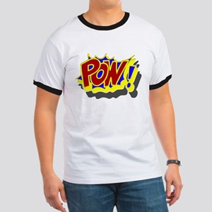 POW! Comic Book Style Ringer T