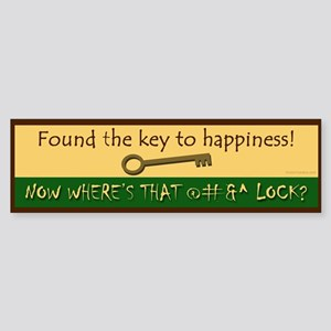 Key to Happiness Sticker (Bumper)
