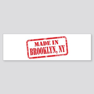 MADE IN BROOKLYN, NY Sticker (Bumper)