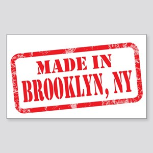 MADE IN BROOKLYN, NY Sticker (Rectangle)