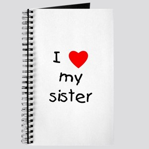 I love my sister Journal