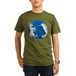 Unicorn Meets Narwhal Organic Men's T-Shirt (dark)