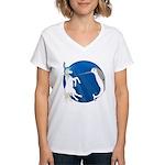 Unicorn Meets Narwhal Women's V-Neck T-Shirt