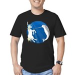 Unicorn Meets Narwhal Men's Fitted T-Shirt (dark)