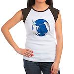 Unicorn Meets Narwhal Women's Cap Sleeve T-Shirt