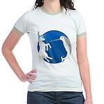 Unicorn Meets Narwhal Jr. Ringer T-Shirt
