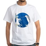 Unicorn Meets Narwhal White T-Shirt