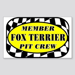 Fox Terrier PIT CREW Sticker (Rectangle)