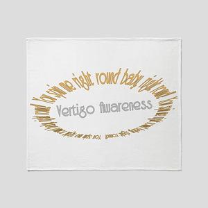 Vertigo Awareness Throw Blanket