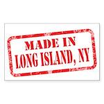 MADE IN LONG ISLAND, NY Sticker (Rectangle 50 pk)