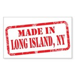 MADE IN LONG ISLAND, NY Sticker (Rectangle 10 pk)