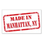 MADE IN MANHATTAN, NY Sticker (Rectangle 50 pk)