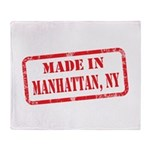 MADE IN MANHATTAN, NY Throw Blanket