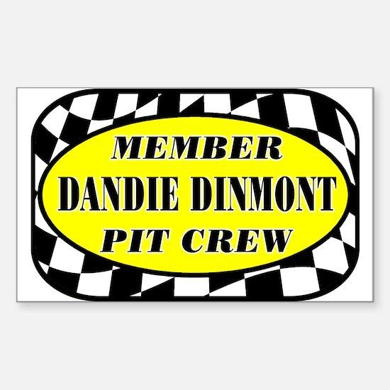 Dandie Dinmont PIT CREW Sticker (Rectangle)