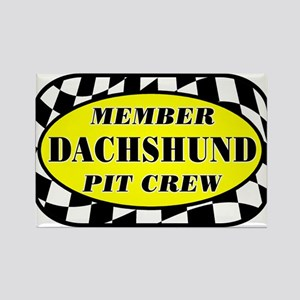 Dachshund PIT CREW Rectangle Magnet