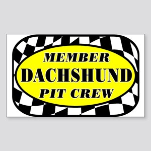 Dachshund PIT CREW Sticker (Rectangle)