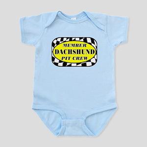 Dachshund PIT CREW Infant Bodysuit