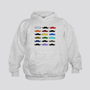 COLORFUL MOUSTACHE Kids Hoodie